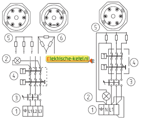 E schema electric heater